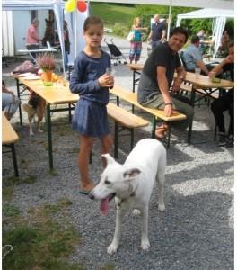 Лотта на ежегодном празднике для собак